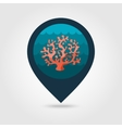 Coral pin map icon Summer Vacation vector image vector image