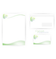 corporate identity templates with dna vector image vector image