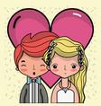 couple lover merried celebration design vector image vector image