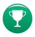 cup award icon green vector image
