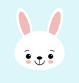 cute bunny graphic icon white rabbit animal vector image