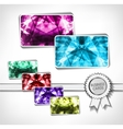 Diamond business cards vector image