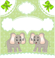 Elephant Background vector image vector image