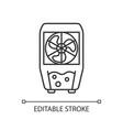 evaporative cooler linear icon