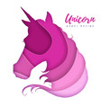 fantasy animal horse unicorn silhouette cut out vector image
