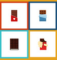 flat icon bitter set of chocolate shaped box vector image vector image