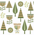 floral seamless pattern in swatch menu cute vector image vector image