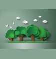 forest with trees and grass vector image vector image