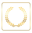 Gold laurel wreath Symbol vector image