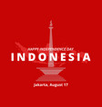happy independence day indonesia jakarta mascot vector image vector image