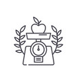 healthy food line icon concept healthy food vector image vector image