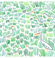 heron at wetland seamless pattern vector image vector image