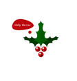 holly berries icon vector image