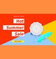 hot summer super sale selling ad banner
