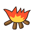 icon fire vector image vector image