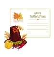 Invitation for thanksgiving vector image vector image