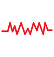isolated cardiogram line vector image