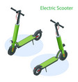isometric electric scooter on road electric vector image