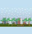 kindergarten playground in vector image