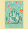 merry christmas greeting card mid century mod vector image vector image