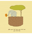 one little elephant vector image