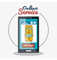 online service taxi smartphone vector image