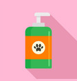 pet wash soap icon flat style vector image
