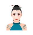 portrait a japanese ninja shinobi girl vector image