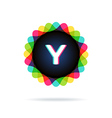 Retro bright colors Logotype Letter Y vector image vector image