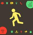 running man run icon vector image vector image