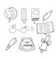 School - doodles collection vector image vector image
