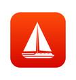 sea yacht icon digital red vector image vector image