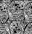 Seamless abstract mosaic black and white pattern vector image vector image