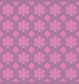 seamless stylized snowflake pattern background vector image vector image