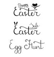 set easter hand drawn calligraphy lettering vector image vector image