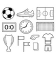 set of football symbols vector image vector image