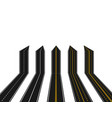 set roads with white and yellow marking in vector image vector image