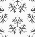 Shades of gray maple leaves with three turn vector image