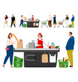 shopping queue vector image
