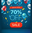 special offer concept 70 percent off vector image vector image