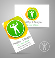 sport fitness logo vector image vector image