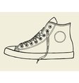 Sport shoes sketch vector image vector image