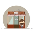stylish barber standing on the street vector image