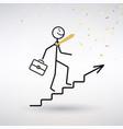 symbol success on career ladder vector image