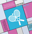 tennis icon sign Modern flat style for your design vector image