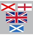 United Kingdom collection of flags vector image vector image