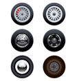 various wheels and tyres vector image