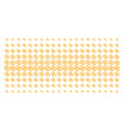 wedding rings shape halftone grid vector image