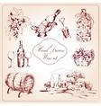 Wine decorative icons set vector image vector image