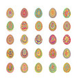 easter eggs 3d design holiday spring pattern vector image